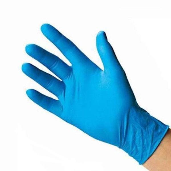 دستکش نیتریل آبی 100 عددی مدیوم