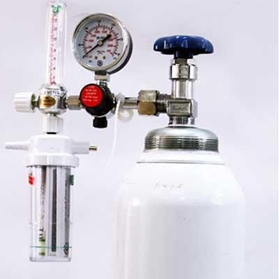 کپسول اکسیژن 10 لیتری چینی همراه مانومتر