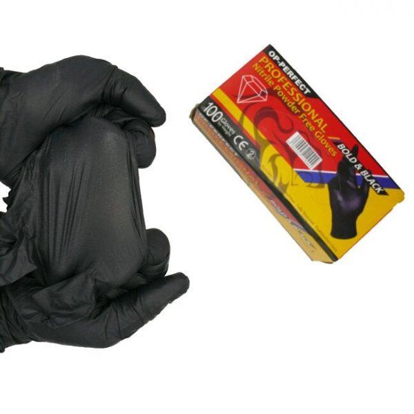 دستکش نیتریل مشکی اپی پرفکت(OP)سایز M